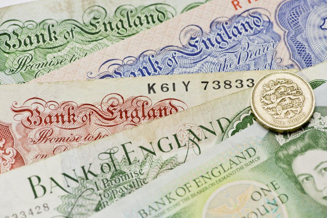 GBP Noten Banknoten Britisches Pfund